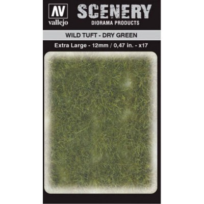WILD TURF - DRY GREEN (L: 12 mm x 35 unidades) - Acrylicos Vallejo SC424