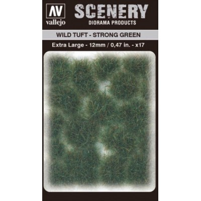 WILD TURF - STRONG GREEN (L: 12 mm x 35 unidades) - Acrylicos Vallejo SC427