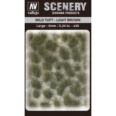 WILD TURF - LIGHT BROWN (L: 6 mm x 35 unidades) - Acrylicos Vallejo SC418