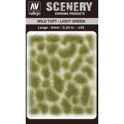 WILD TURF - LIGHT GREEN (L: 6 mm x 35 unidades) - Acrylicos Vallejo SC417
