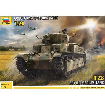 CARRO DE COMBATE T-28 -1/72- Zvezda 5064