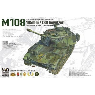 OBUS AUTOPROPULSADO M-108 (105 mm) -Escala 1/35- AFV Club AF35108