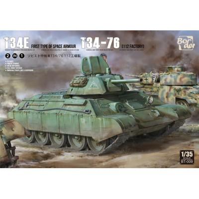 CARRO DE COMBATE T-34E (mit Zusatzpanzerung) / T-34/76 2in1-Escala 1/35- Border Model BT-009