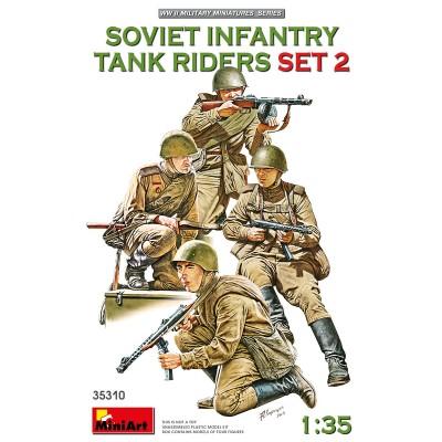 INFANTERIA SOVIETICA SOBRE CARRO SET 2 -Escala 1/35- MiniArt 35310
