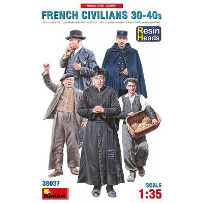 CIVILES FRANCESES AÑOS 30-40 (Cabezas Resina) -Escala 1/35- MiniArt 38037