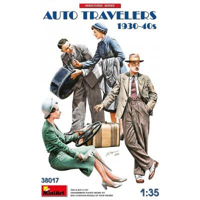 VIAJEROS EN AUTOMOVIL 1930-40 -Escala 1/35- MiniArt 38017