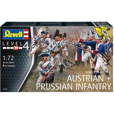 Guerra de los 7 años: INFANTERIA AUSTRIACA & PRUSIANA -Escala 1/72- Revell 02452