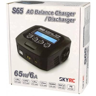 CARGADOR S65 AC 2-4S 6A 65w SKYRC 100152