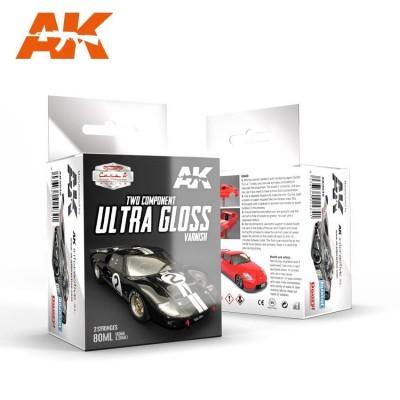 BARNIZ ULTRA BRILLANTE DOS COMPONENTES 80 ML - AK 9040