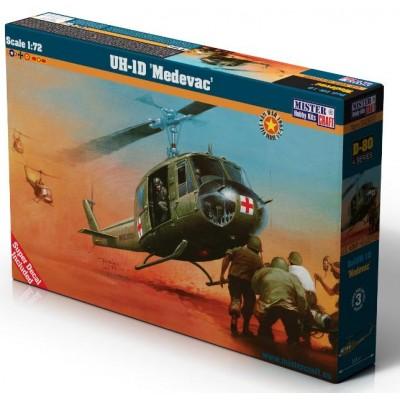 HELICOPTERO UH-1D MEDEVAC ESCALA 1/72 - MISTER HOBBY CRAFT D-80