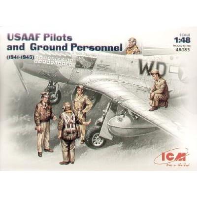 PILOTOS Y PERSONAL USAAF 1/48 - ICM 48083
