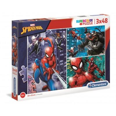 PUZZLE 3 x 48 Pzas SPIDERMAN - Clementoni 25238