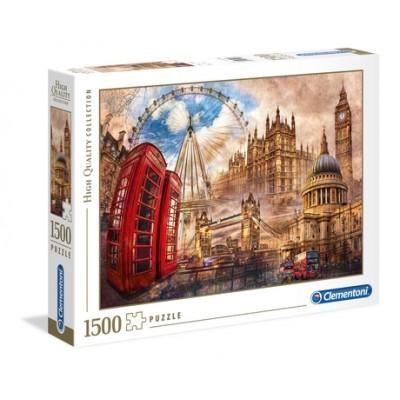 PUZZLE 1500 Pzas VINTAGE LONDON - Clementoni 31807