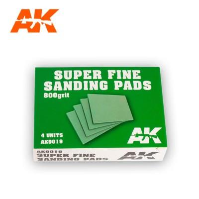 SET DE 4 ESPONJAS DE LIJADO SUPER FINO ( GRANO 800 ) AK 9019
