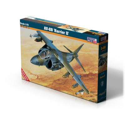 MCDONELL DOUGLAS AV-8 B HARRIER II -Escala 1/72- Mister Hobby Craft Kits 040405 D-50