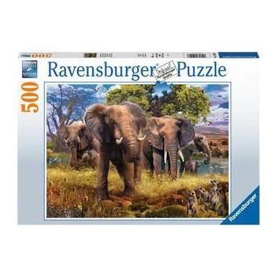 PUZZLE 500 PZAS FAMILIA DE ELEFANTES - RAVENSBURGER 15040