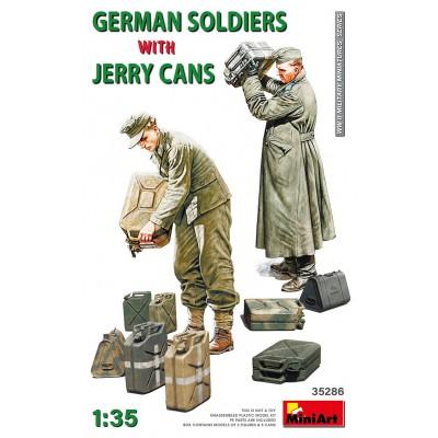 SOLDADOS ALEMANES & JERRY CANS -Escala 1/35- MiniArt Models 35386