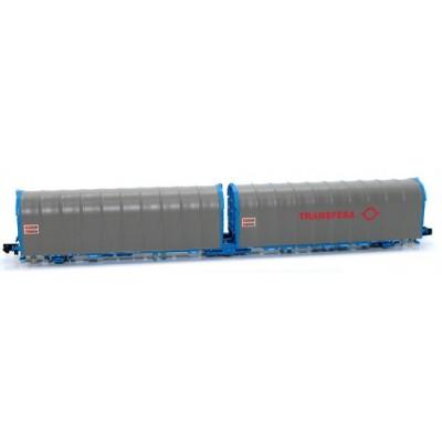 VAGON PLATAFORMA ARTICULADA LAILS Transfesa, Epoca V -Escala N - 1/160- MF Train N33063