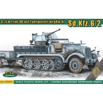 SEMIORUGA Sd.Kfz. 6/2 & Flak 36 (37 mm) -Escala 1/35- Ace Model 72573
