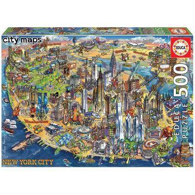 PUZZLE 500 pzas MAPA DE NUEVA YORK - Educa 18453