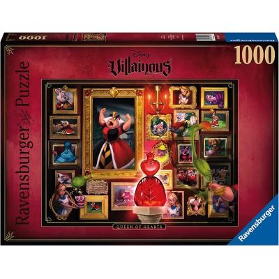 PUZZLE 1000 pzas VILLAINOUS QUEEN OF HEARTS, DISNEY - Ravensburguer 15026