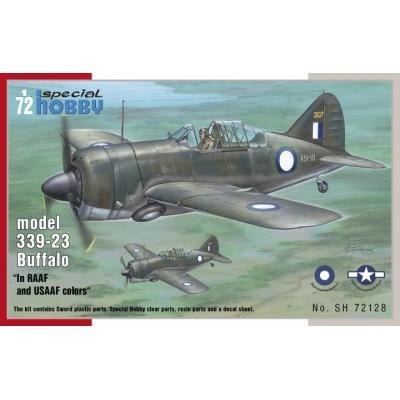 BREWSTER BUFFALO MODEL 339-23 RAAF/USAAF - ESCALA 1/72 - SPECIAL HOBBY 72128