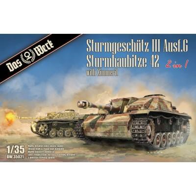 CAÑON DE ASALTO Sd.Kfz. 141 STUG III Ausf.G / STUH. 42 & ZIMMERIT - Escala 1/35 - DAS WERK 35021