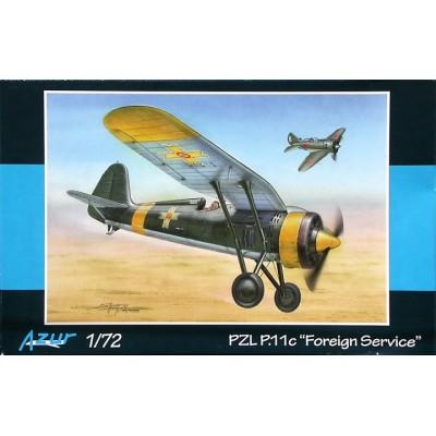 PZL P.11C FOREIGN SERVICE ESCALA 1/72 - AZUR A115