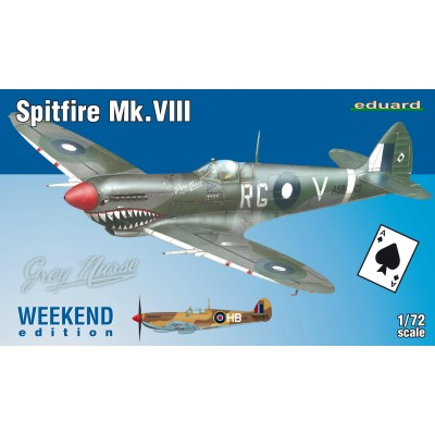 SUPERMARINE SPITFIRE MK.VIII WEEKEND EDITION - ESCALA 1/72 - EDUARD 7442