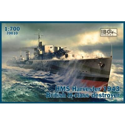 DESTRUCTOR BRITANICO CLASE H HMS HARVESTER 1943 - ESCALA 1/700 - IBG 70010
