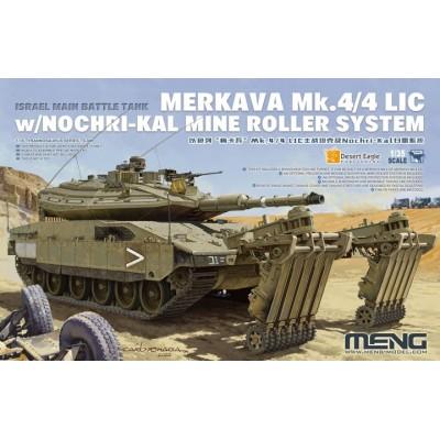 CARRO DE COMBATE MERKAVA Mk.4 / 4LIC & RODILLO DESMINADOR Nochri-Kal -Escala 1/35- Meng Model TS-049