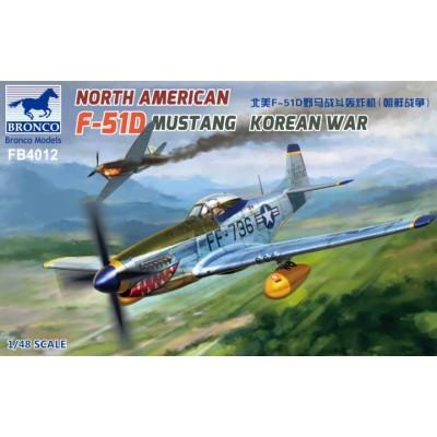 NORH AMERICAN F-51 D MUSTANG (KOREA) -Escala 1/48- Bronco Models FB4012