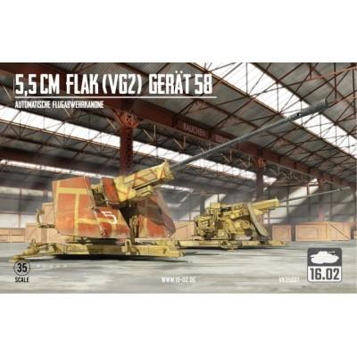 CAÑON ANTIAEREO FLAK (VG2) 55 mm -Escala 1/35- 16.02 VK35001