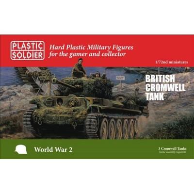 CARRO DE COMBATE CROMWELL (3 UNIDADES) ESCALA 1/72 PLASTIC SOLDIER