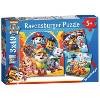 PUZZLE 3 X 49 Pzas LA PATRULLA CANINA -Ravensburger 05048