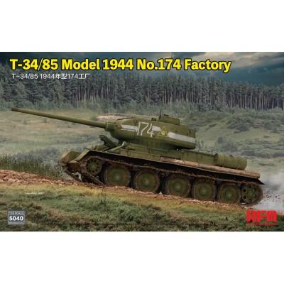 CARRO DE COMBATE T-34/85 Mod. 1944 (Factory 174) -Escala 1/35- Rye Field Model RM5040