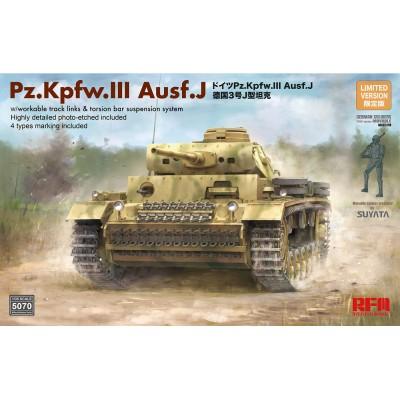 CARRO DE COMBATE Sd.Kfz. 141 PANZER III Auf. J -Escala 1/35- Rye Field Model RM5070