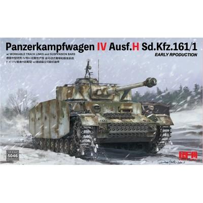 CARRO DE COMBATE Sd.Kfz. 161 PANZER IV Auf. H (Early) -Escala 1/35- Rye Field Model RM5046