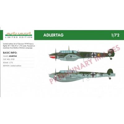 MESSERSCHMITT Bf-110 C/D ADLERTAG -Escala 1/72- Eduard 2132