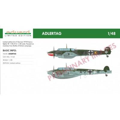MESSERSCHMITT Bf-110 C/D ADLERTAG -Escala 1/48- Eduard 11145