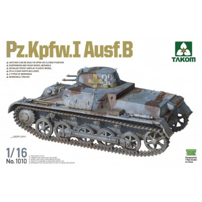 CARRO DE COMBATE Sk.Kfz. 101 Ausf. B PANZER I -Escala 1/16- Takom 1010