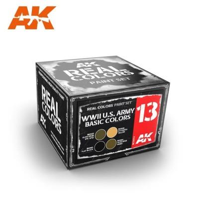 U.S. ARMY BASIC COLORS SET - AK Interactive RCS013