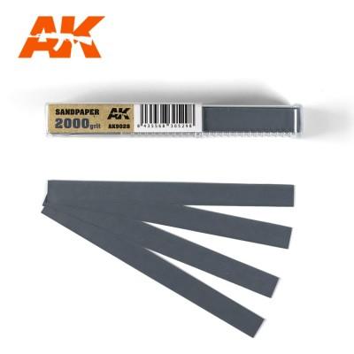 TIRAS PAPEL DE LIJA 2000 (10 x 110 mm) 50 unidades - AK Interactive AK9028