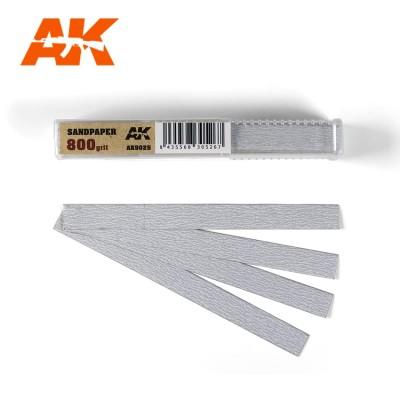 TIRAS PAPEL DE LIJA 800 (10 x 110 mm) 50 unidades - AK Interactive AK9025