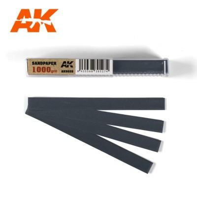 TIRAS PAPEL DE LIJA 1000 (10 x 110 mm) 50 unidades - AK Interactive AK9026