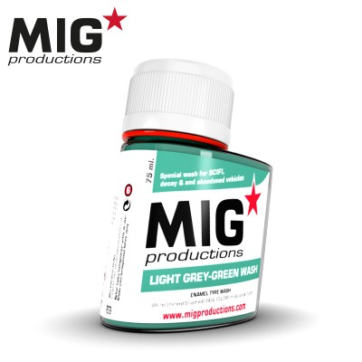 LIGHT GREY-GREEN WASH (75 ml) - MIG Productions P279
