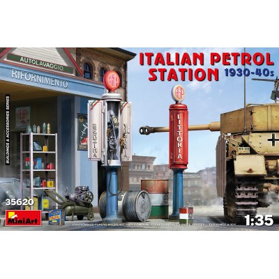 ESTACION DE SERVICIO ITALIANA 1930-40S - ESCALA 1/35 - MINIART 35620
