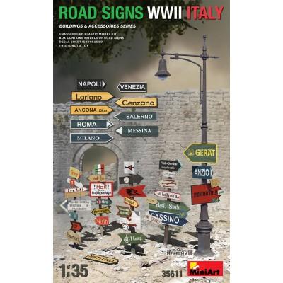 SEÑALES DE CARRETERA ITALIANAS WWII - ESCALA 1/35 - MINIART 35611