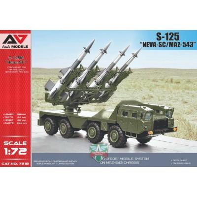 """CAMION MAZ-543 & SISTEMA DE MISILES ANTIAEREO S-125 """"Neva"""" -Escala 1/72 - A&A Models AAM 7218"""