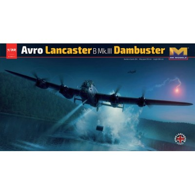 """AVRO LANCASTER B.MK-III """"Dambuster"""" -Escala 1/32- Hong Kong Model 01E011"""